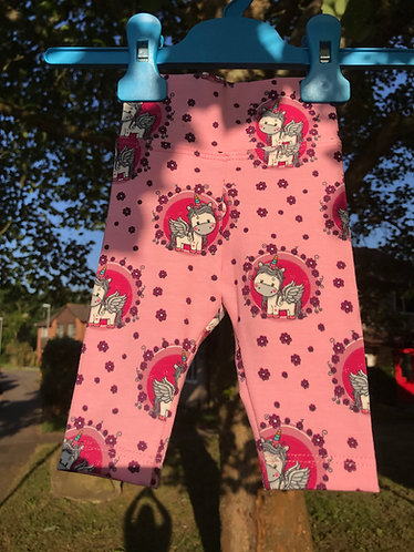 Ladybug leggings: Unicorns 0-3m
