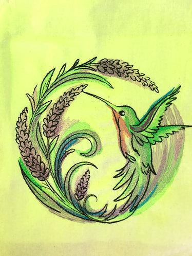 Lavender Hummingbird shopper
