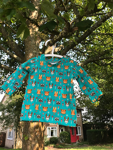 Stardust shirt: Animal Faces 6-9m
