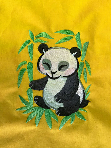 Panda in Asian Watercolour shopper