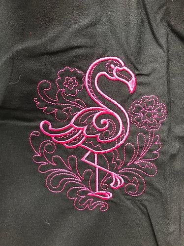 Doodle Flamingo shopper