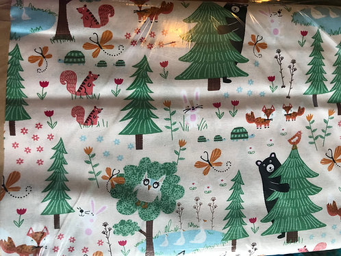Forest Cotton Fabric