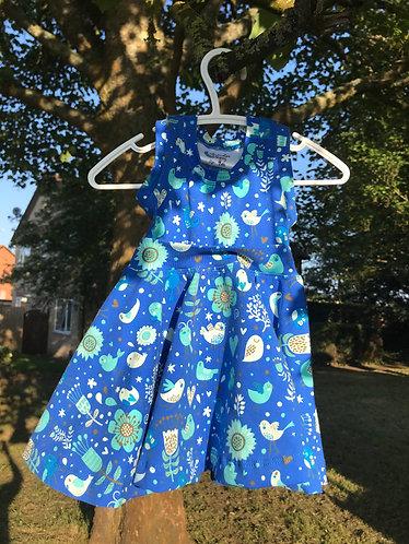 Artemis dress: Birds 9m