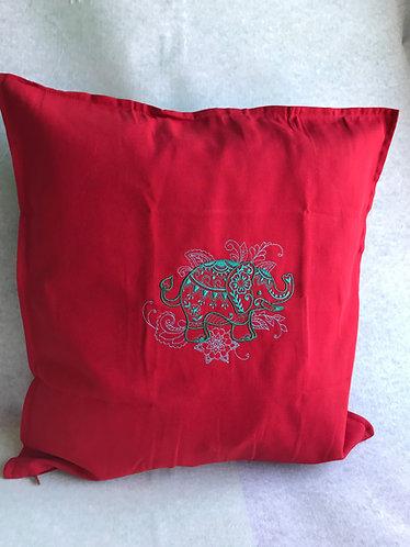Mehndi Elephant Cushion