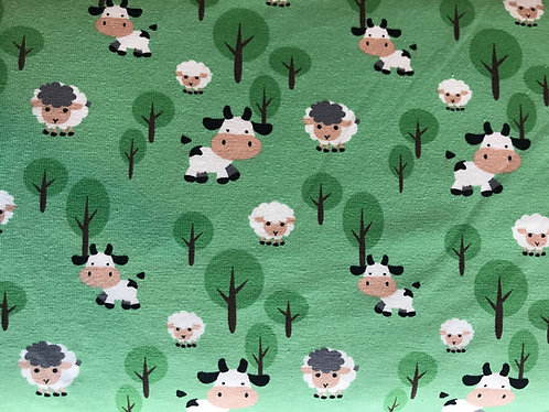 Cows Cotton/Lycra Fabric