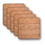 """Thumbnail: ECO-Wooden Coasters-Locally Sourced, 4"""" (18 Shape / Wood Options) 4-Pack"""