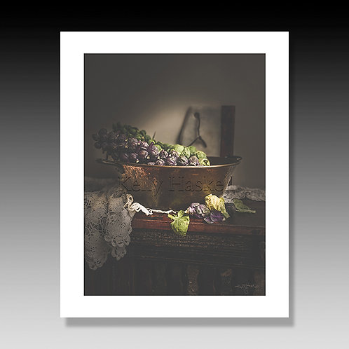 Brussel Sprouts in French Copper Pot Print