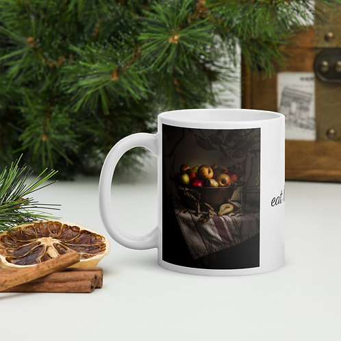 French Copper Pot with Apples & Pears Coffee Mug