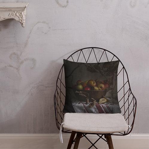 Decorative Pillow w/ Vintage Apple & Pear image