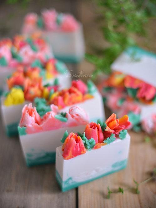"""""""Тюльпаны"""" весеннее мыло с нуля"""