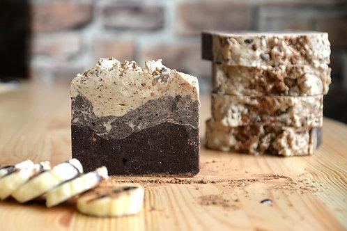 Бананово-шоколадное натуральное взбитое мыло