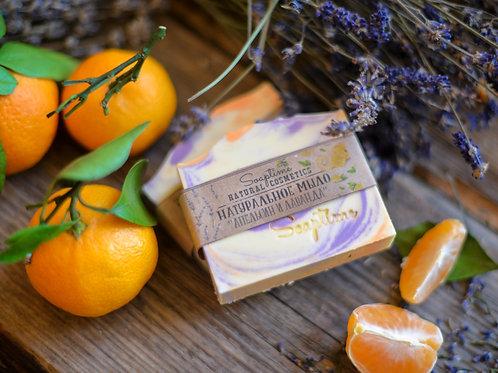 """Апельсин и лаванда"" натуральное мыло"