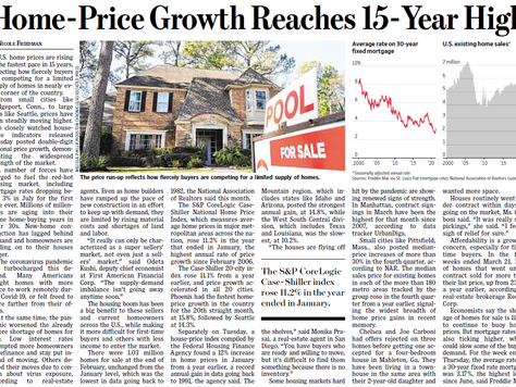 WSJ article on Home-Price Growth March 31 2021