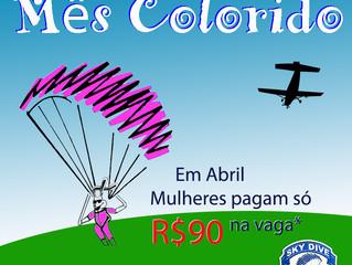 Esse mês vai ser mais Colorido na Skydive Resende!