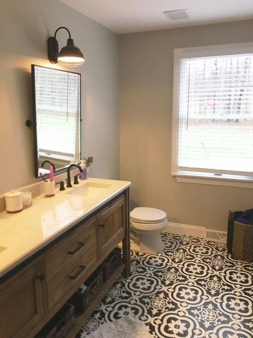 Classy Bathroom Floor