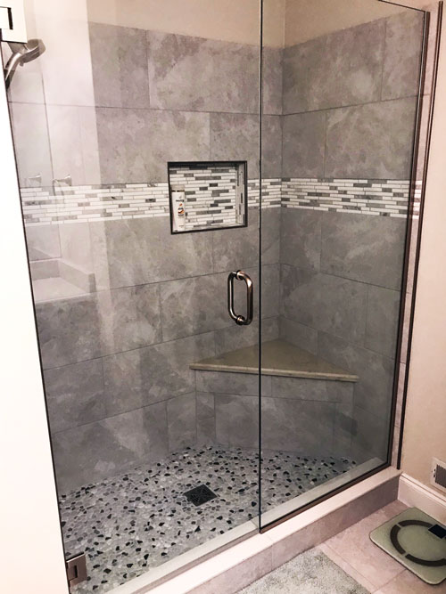 Gray Tiled Shower