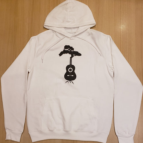 White (unisex) Duane Forrest Guitar Tree Hoodie