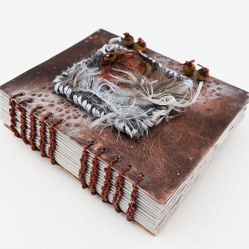 Coptic Bound Copper & Fiber Book