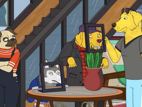 Mr. Peanutbutters home in Bojack Horseman on Netflix
