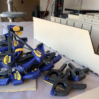 Pile of clamps