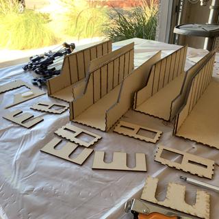 Assembling each drawer