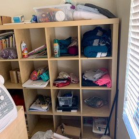 unorganized and overwhlemed -Craft Room