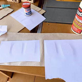Glueing front plates
