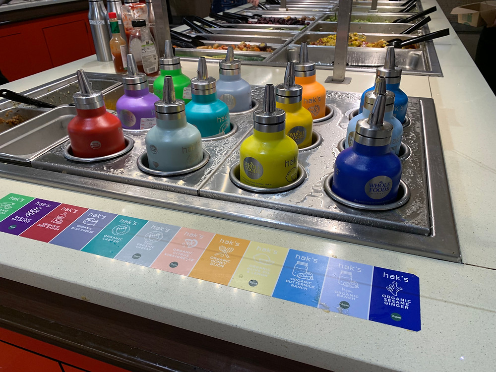 The new salad dressing user experience at Whole Foods In Phoenix Arizona
