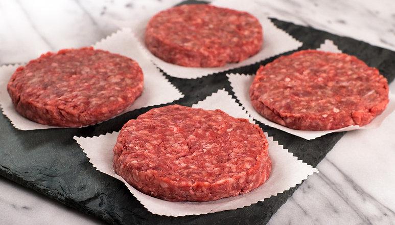 10 lbs Box Hamburger patties