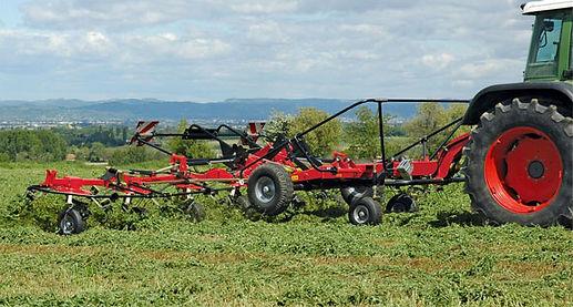custom hay tedding