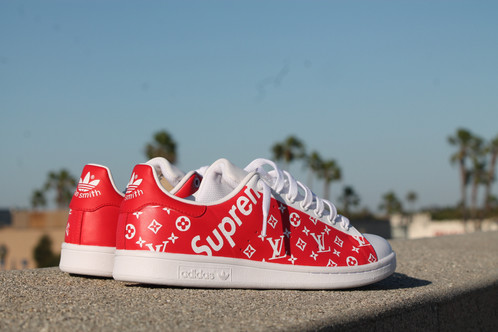 Adidas Stan Smith Blanc Rouge (Stan Smith Supreme)