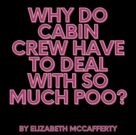 Why do cabin crew have to deal with so much poo?