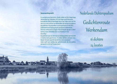 """Voorzijde folder en cover """"Gedichtenroute Werkendam"""""""