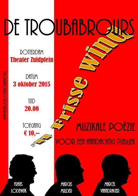 """Poster De Troubabrours voor de theatershow """"Een frisse wind"""""""
