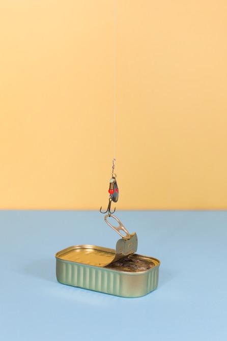 Fishing in a tin can