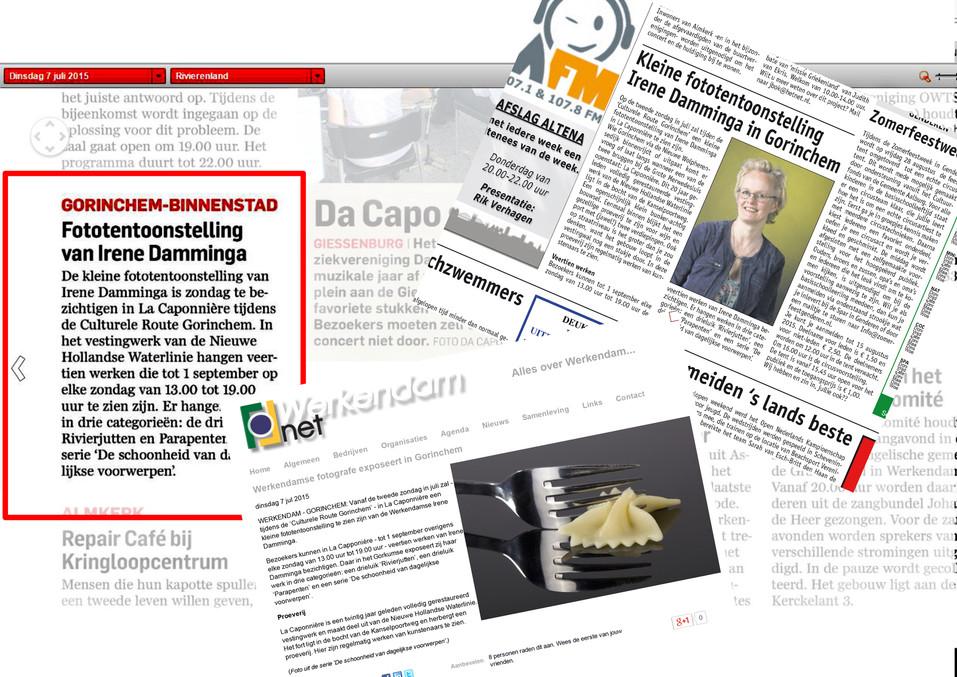 Krantenknipsels Expositie Caponnière
