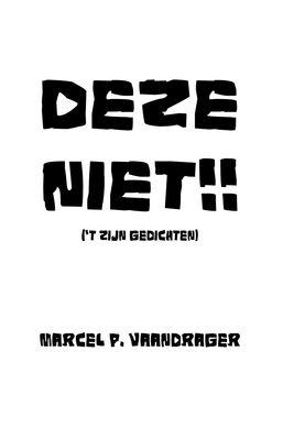 """Cover """"Deze niet"""" van Marcel Vaandrager"""