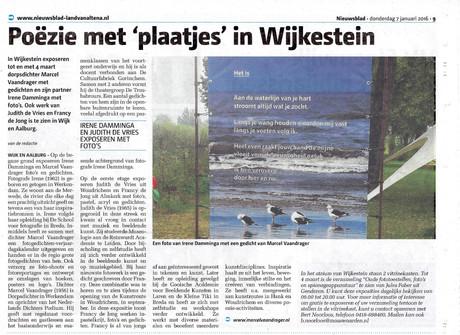 Expositie Wijkestein Wijk en Aalburg jan. t/m april 2016