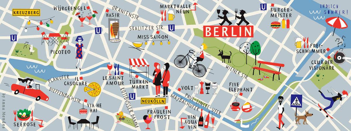 Kreuzberg and Neukölln, Berlin, Germany by Anna Mendes
