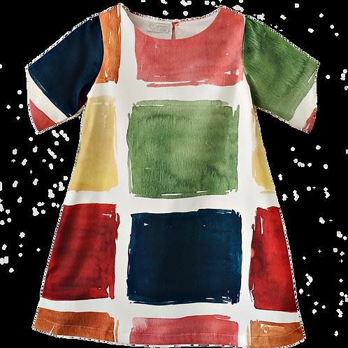 Vestido quadradinhos coloridos