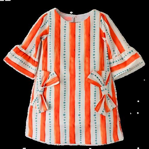 Vestido trapézio laranja