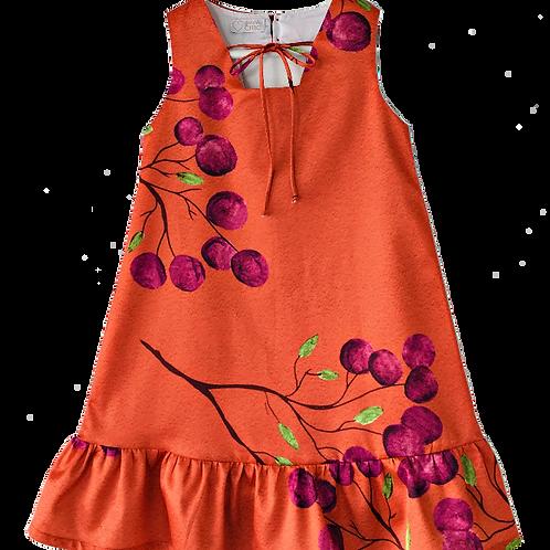 Vestido estampa cereja