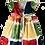 Thumbnail: Vestido estampa quadrinhos coloridos