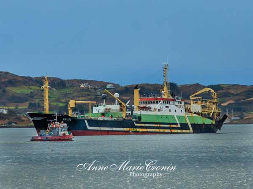 Trawlers Exchanging Engine Parts in Berehaven Harbour