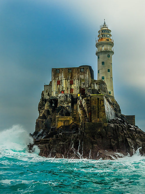 """The Fastnet Rock. It's Irish name Carraig Aonair, meaning """"lonely rock""""."""