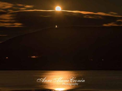 The Pink Moon Rising over The Holy  Cross on Bere Island, Beara, West Cork, #WildAtlanticWay
