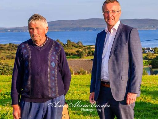 IFA President Tim Cullinan, visits the farm of Pat O Neill Dromlave, Adrigole, Beara, West Cork