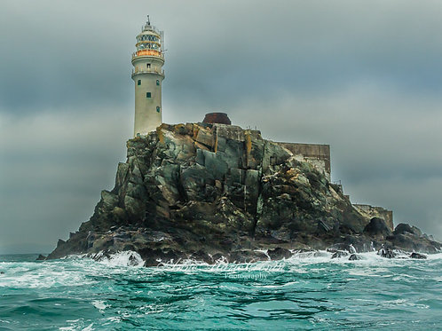"""The Fastnet Rock. It's Irish name Carraig Aonair, meaning """"lonely rock"""""""
