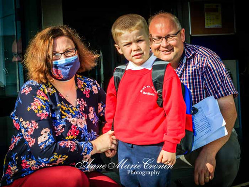Pictures of the first Day at Scoil an Chroí Ro Naofa, Castletownbere, Beara