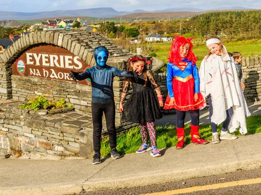Eyeries School Decorates Village for Halloween